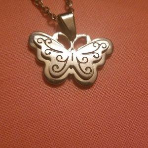 Silver Butterfly Necklace ♡ Embrace Life ♡
